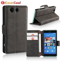 Wallet Case For Sony Z3 Compact iCoverCase Original Leather Flip Matte Phone Cover For Sony Xperia Z3 Compact D5803 D5833 Cases