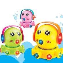 Смешные Музыкальные Мультфильм Электрические Игрушки Собаки НЛО Форма Звук Вращающихся Игрушки Вспышка Музыки Игрушка в Подарок для Детей