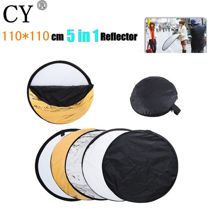 110cm/43 5 in 1 Photography Studio Multi Photo Disc Collapsible Light Reflector Photo Studio Accessories