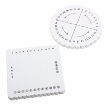 Modern Round Square Beading Cord Disc Disk Braiding Plate DIY Weaving Loom Braided for Home Garden Sewing Handmade Tool