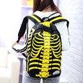 Fashion Novelty Pattern Skeleton Backpacks Unisex Casual Travel Backpack College Satchel Waterproof School Bag