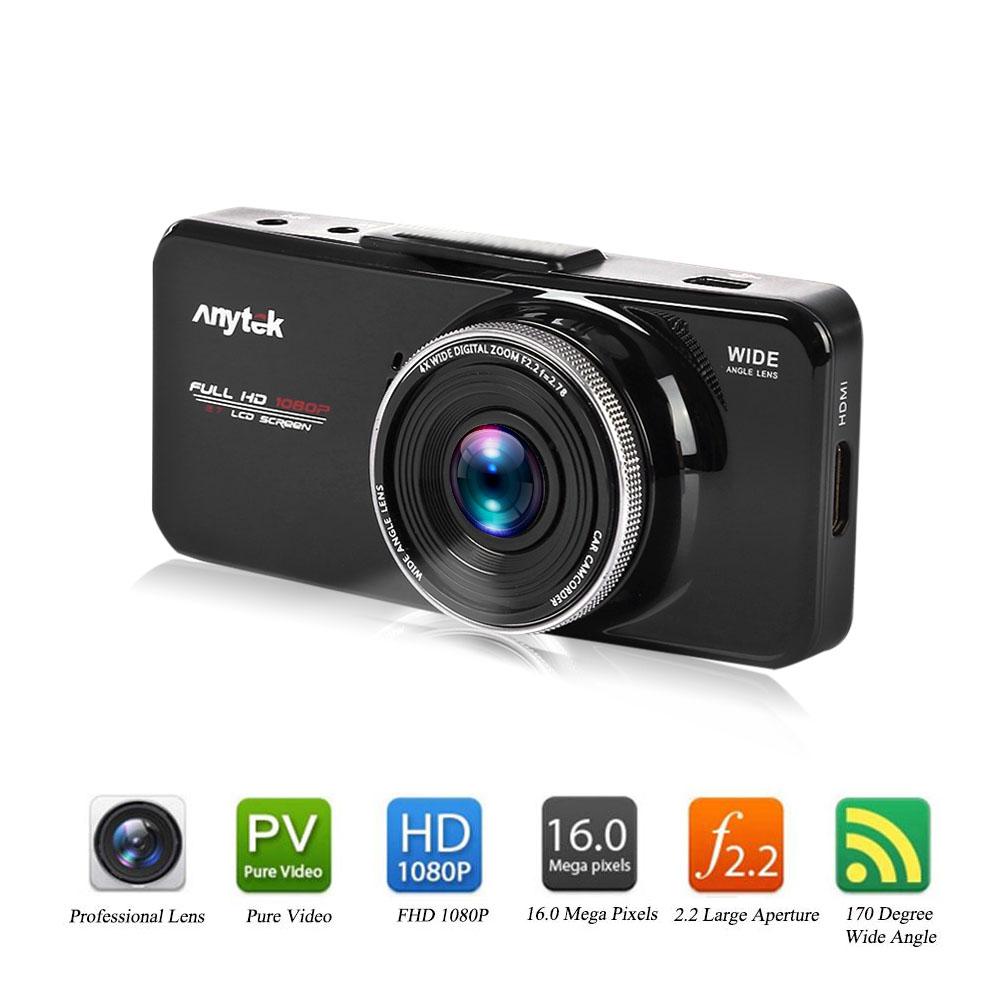 Фотография Anytek AT66A Car DVR 1080P Full HD 2.7 inch TFT Screen Video Recorder Car Camcorder Resolution 120 Degree Wide Angle