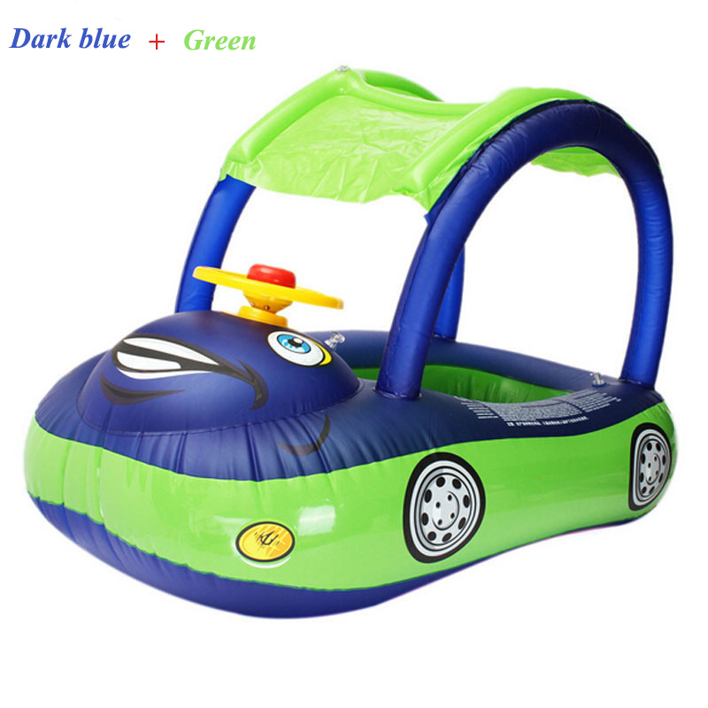 Inflatable Swimming Rings With Remove Awning For Children Car Model High Quality Water Toys Hot Sale Product Suitable For Summer