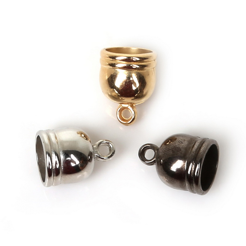 купить 4/5/6/8mm 50pcs Gunmetal Plated CCB Plastic Beads End Caps Crimp Bead Cover For Jewelry Making Necklace Bracelet DIY Connectors по цене 63.92 рублей