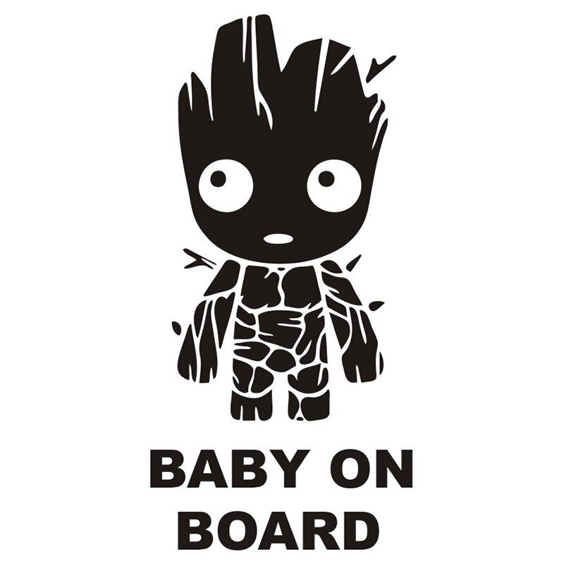 15cm Tall Baby Groot Board Die Cut Vinyl Decal Sticker  Funny Car Body Window Stickers Creative  Decor TA024