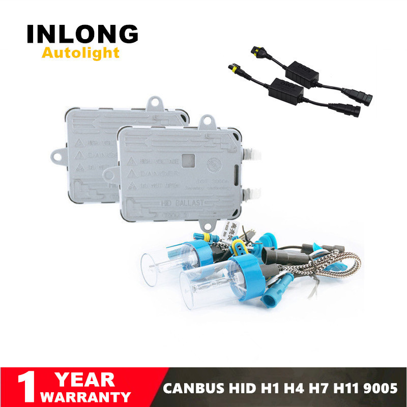 Inlong AC12V 55W Canbus Bright Fast Start Error Free HID Xenon Kit H1 H3 H4 H7 H8 H9 H11 9005 9006 9007 Ballast Car Accessories kids dry eras ferrous writing whiteboard gloss yellow dry wipe surface yellow board for wall 100 x 60 cm x 0 6 mm