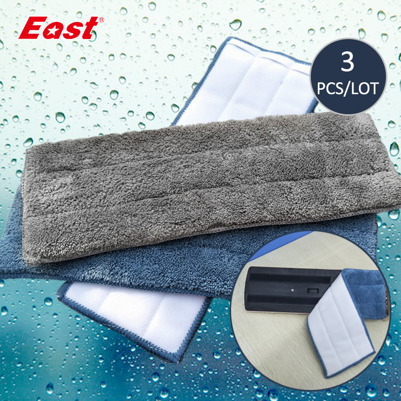East 3PCS/set Microfiber Spray Mop Head Floor Cleaning Cloth Paste The Mop To Replace Cloth Household Cleaning Mop Accessories