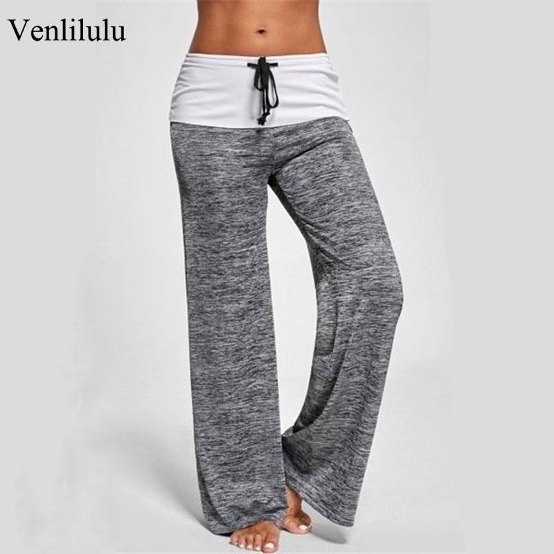 2019 Wide Leggings Women Workout Leggings Female Pants Loose Leggings Ladies Casual High Waist Jeggings Women Trousers Pants