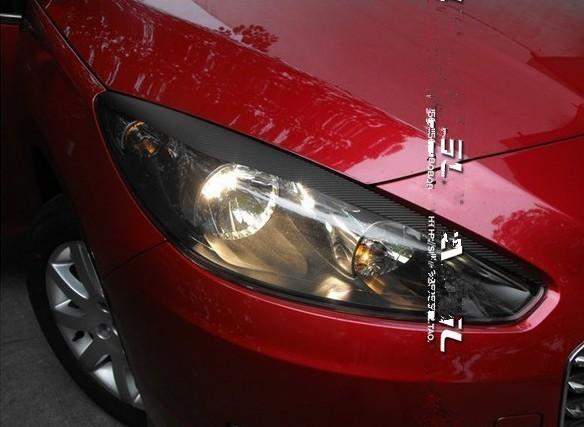 пригодный для дунфэн Peugeot 308 стайлинга автомобилей фар преобразования автомобиля волокна углерода наклейки знака авто аксессуаров ремонт