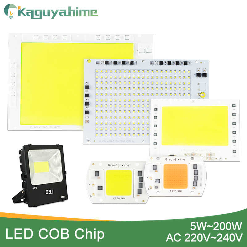 Kaguyahime 5W~100W AC 220V Integrated COB LED Lamp Chip 50W 30W 20W 10W Smart IC Driver High Lumens For DIY Floodlight Spotlight