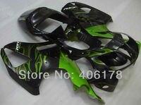 Hot Sales,After market motorycle fairing kit For Honda vtr Rc51 SP1 SP2 RVT1000RR 00 06 Rc51 2000 2006 Green Flame Fairings Kit