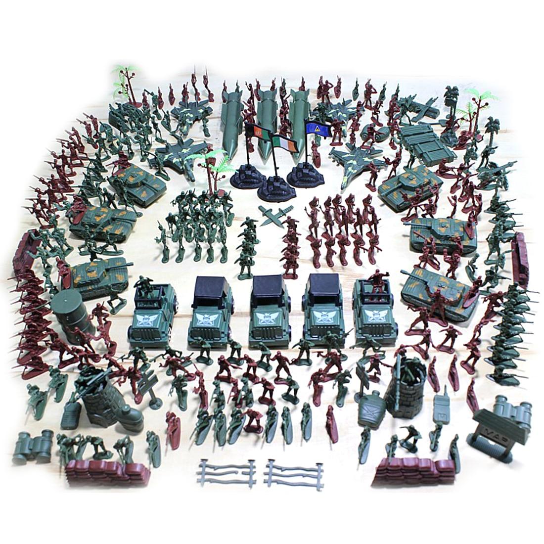 301 pcs 5 cm En Plastique Soldat Modèle Seconde Guerre Mondiale Soldat Militaire D'apprentissage Jouets Éducatifs, Créé pour Enfants