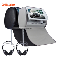 Seicane Car Headrest DVD Player 9 Inch 800 480 With FM Games And Zipper Cover 3