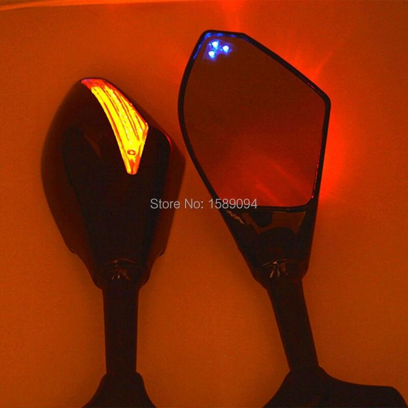 3 Punto Blu A Doppio LED Del Motociclo LED Integrato Indicatori di Direzione Retrovisore Specchio laterale Per Honda CBR 600 F4i 929 954RR F1 F2 uragano