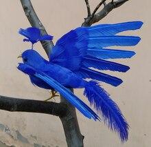 20x28cm Foamu0026feathers Blue Phoenix Artificial Bird Handicraft,garden  Decoration Prop Gift A2540