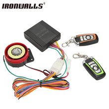 Ironwalls Motorcycle Alarm System Anti-theft Security Alarm Protection Remote Control 150M Universal Scooter Chopper Motor Bike