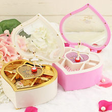 Cute Heart Shape Music Box Christmas Birthday Holiday Gift Best Gift Table Decor(China)