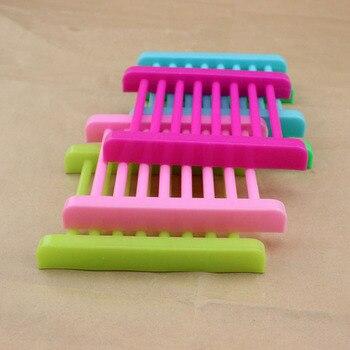 Plastic Trapezoid Soap Plate Box Bath Colorful Soap Tray Holder Rack Dish Shower Wash 12*9*1.8cm ZA5989