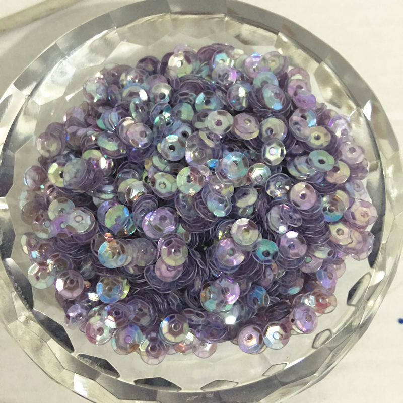 50g(10000pcs) 4mm Brilliant Transparent Purple CUP round loose sequins Paillette sewing Wedding craft good quality