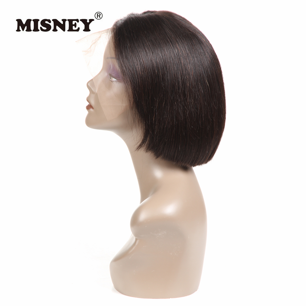 Human Hair Bob Wigs  Lace Front Short Human Hair Wig With Baby Hair Pre Plucked Remy Straight Frontal Lace Wig 13x4