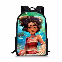 e728ccac940 Moana Princess print Backpacks School bags kids schoolbag 1 grade satchel  for Boys girls students mochila