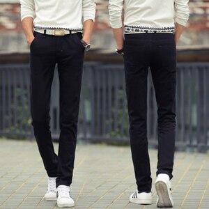 Image 2 - Männlichen Sommer Mode Kleid Hosen männer Koreanischen Stil Dünne Beiläufige Lange Länge Pantalon Homme Männer Slim Fit Anzug Hosen Weiß hosen