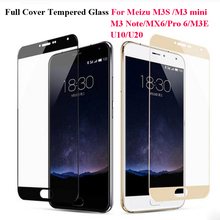 Full Cover Color Tempered Glass For Meizu M3S M3 Note M3 mini M5S Pro 6 7 MX6 U10 M5C Screen Protector Toughened Protective Film