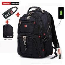 Купить с кэшбэком MAGIC UNION Men's Travel Bags Multifunction Rucksack Waterproof Oxford Laptop Backpack For Teenager Anti-theft Travel Backpack