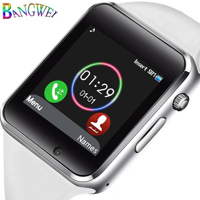 51f1e6f5113 BANGWEI Mulheres Homens Relógio Inteligente Bluetooth Relógio Do Esporte  Pedômetro Eletrônico Digital Music Player Reloj Smartwatch