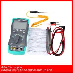 Цифровой мультиметр Holdpeak с подсветкой, амперметр переменного/постоянного тока, Вольтметр Ом, портативный измеритель сопротивления, частот...