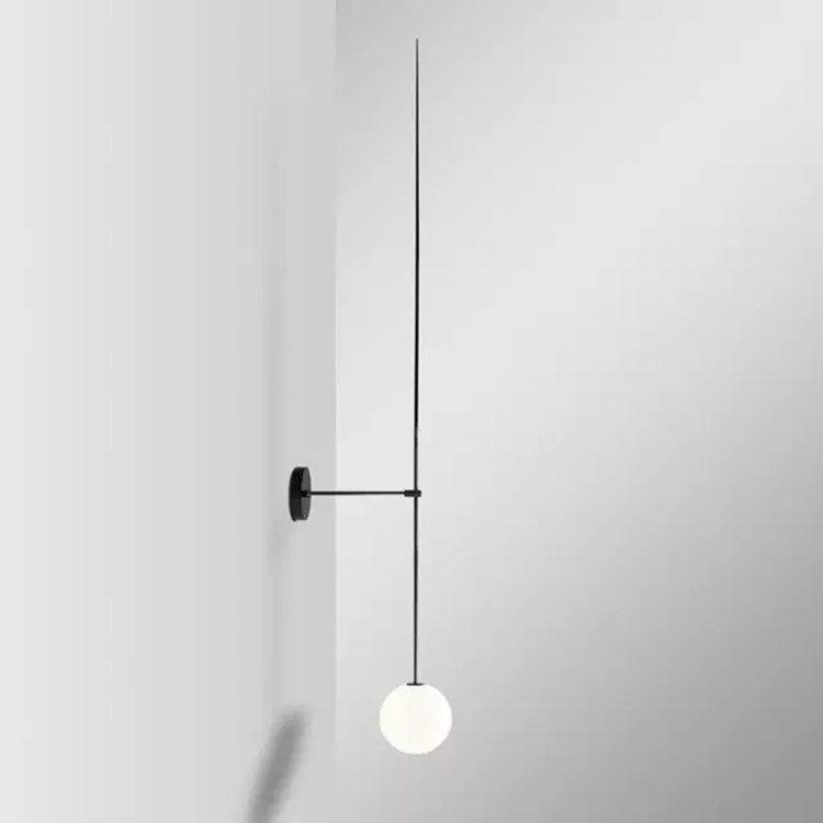 Design nórdico moderno arandela LEVOU luzes de Parede lâmpada de parede Bola de Vidro para Espelho Do Banheiro lâmpada de Cabeceira Retro lamparas pared de interior