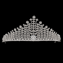 hot deal buy sparkly full aaa cubic zircon flower tiaras bridal crown womne wedding hair jewelry accessories tr15134