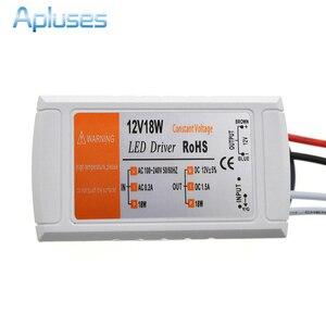 12V 1.5A 18W Power Supply AC/DC adapter transformers switch for LED Strip RGB ceiling Light bulb Driver Power Supply 90V-220V(China)