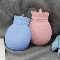 ПВХ бутылка для горячей воды силиконовый маленький наполнитель милый ананас теплые сумки воды инъекции горячей воды мешок для чтения снаря...