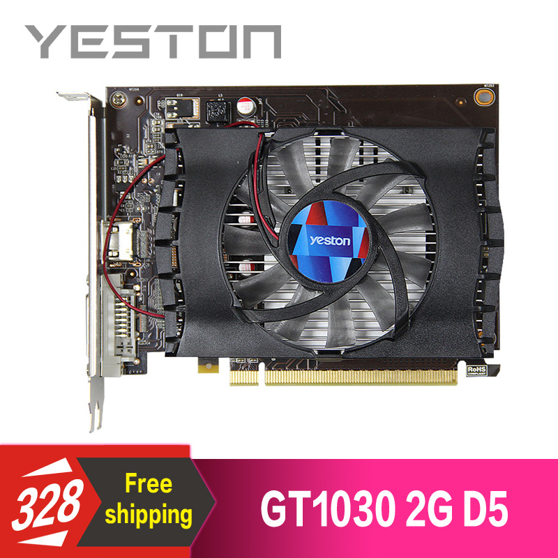 Yeston GeForce GT 1030 2GB GDDR5 Graphics cards Nvidia pci express 3 0 Desktop computer PC