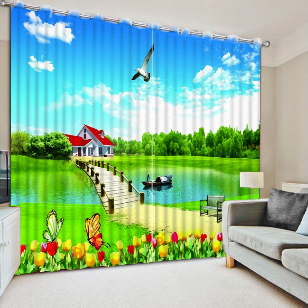 NoEnName_Null 3D Printing Curtains Luxury Window Curtains Beautiful Beautification Bedroom Livng Room  Drapes CL-DLM302NoEnName_Null 3D Printing Curtains Luxury Window Curtains Beautiful Beautification Bedroom Livng Room  Drapes CL-DLM302