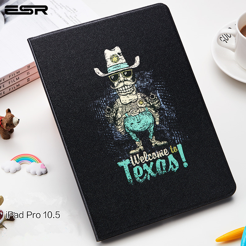 For New iPad 2017 iPad Pro 10.5 inch Case,ESR Illustrators Series Smart Case with Auto Sleep/Wake Back Cover For Apple iPAD 10.5 цена