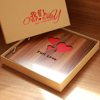 diy wooden photo album handmade viscose photo album family+ baby +couples photo album