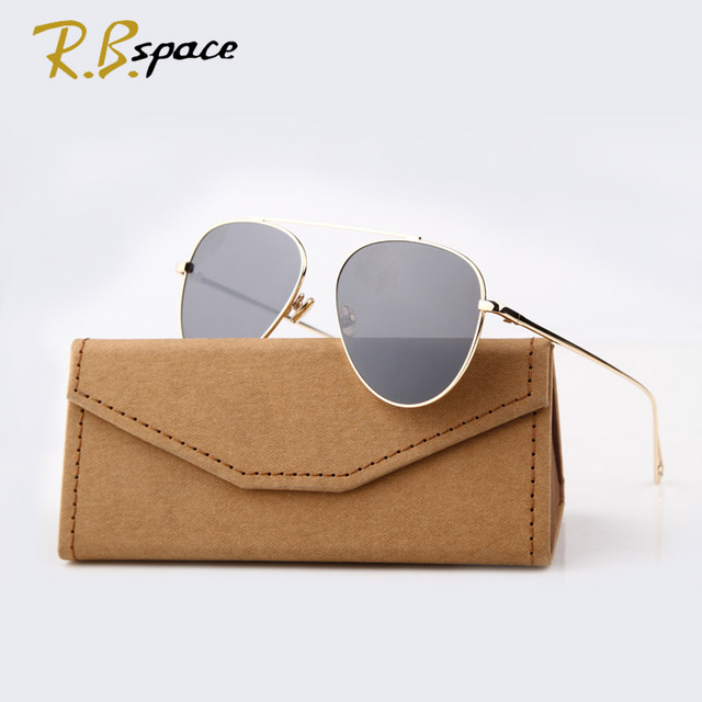 2016 New Tide brand Classic sunglasses female fashion designer retro sunglasses Plated film lens Glasses Shades men S1961