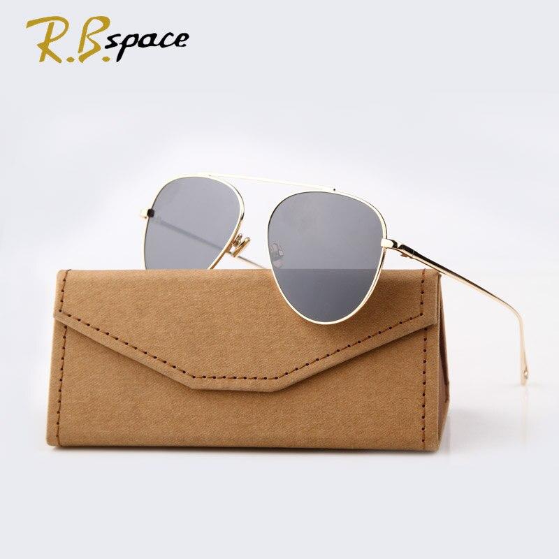 2016 New Tide brand Classic sunglasses female fashion designer retro sunglasses Plated film lens Glasses Shades men S1961