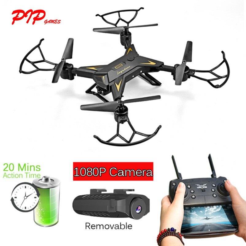 PIP JEUX Grand Batterie RC Drone Pro avec Caméra HD 1080 p RC Quadcopter Aéronefs 20 Minutes Long Fly Temps RC Hélicoptère PGM060
