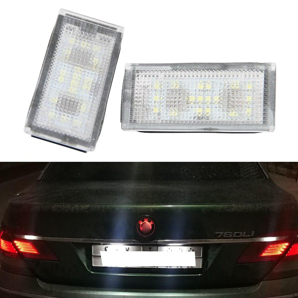 2 Pcs Erreur Livraison 18 LED Nombre de Plaque D'immatriculation Pour BMW E66 E65 7-Series 735i 2006-2008 Blanc 12 V Canbus Licence Plaque Lumière