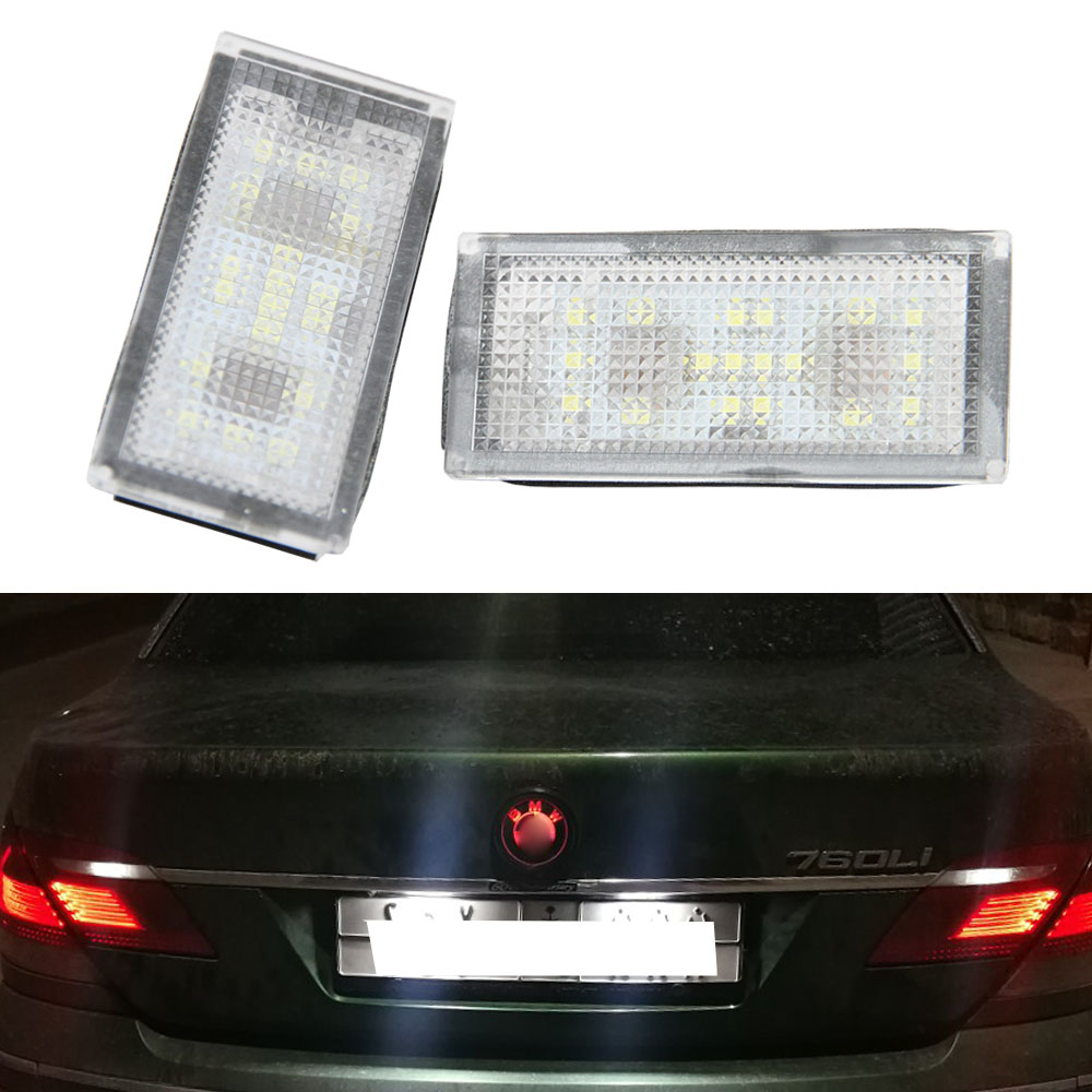 2Pcs Error Free 18 LED Number License Plate Light For BMW E66 E65 7-Series 735i 2006-2008 White 12V Canbus License Plate Light2Pcs Error Free 18 LED Number License Plate Light For BMW E66 E65 7-Series 735i 2006-2008 White 12V Canbus License Plate Light