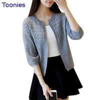 Knitted Cardigan Women 2017 Short Spring Autumn Long Sleeve Sweater Cardigan Female Open Stitch Pull Femme