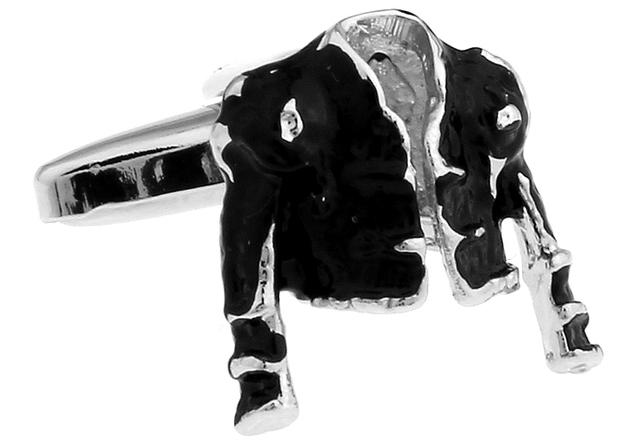 Igame Cufflink Design Black Color Brass Material Cuff Links