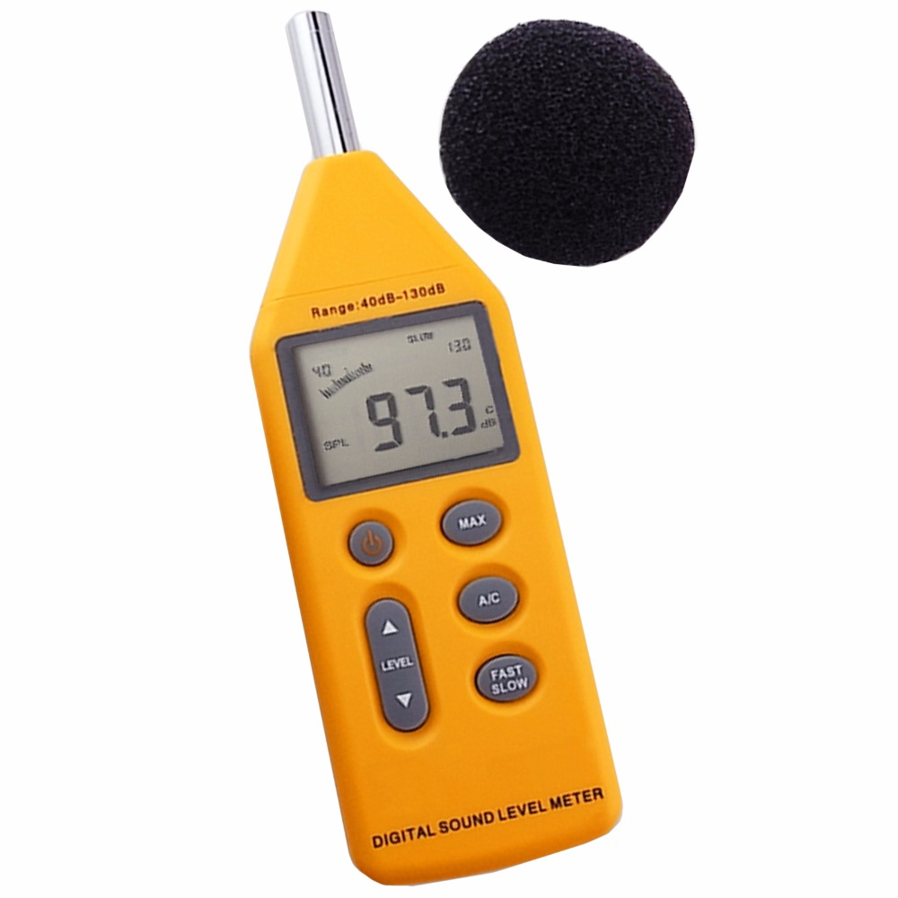 Digital 5-in-1 Professional Sound  Pressure Level Meter Noise  40~130dB Decibels Logger with OPTIONAL Software CD & USB Cable mc 7825ps digital water meter price with 2 in 1 multifunctional digital pin