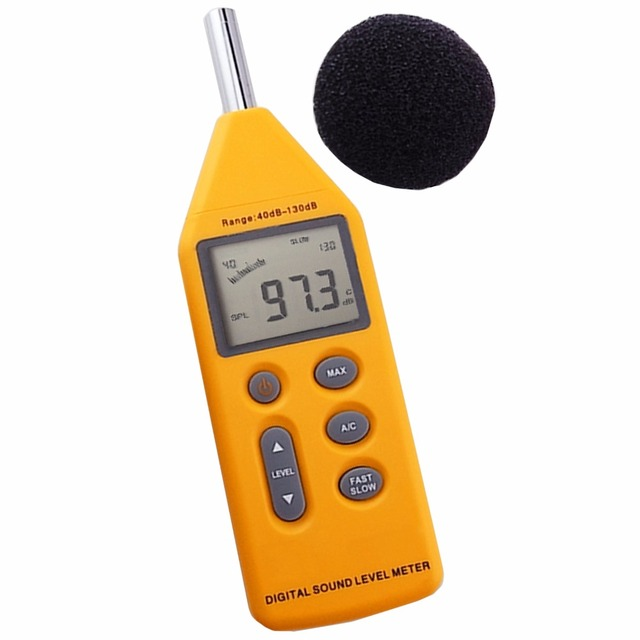 Digital 5-in-1 Professional Sound  Pressure Level Meter Noise  40~130dB Decibels Logger with OPTIONAL Software CD & USB Cable