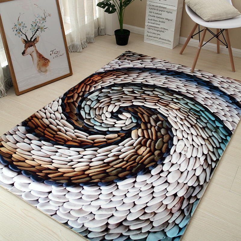 Art créatif tapis pierre fleur Animal chambre salon décoratif tapis