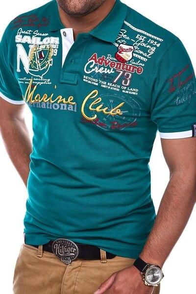 Men Short Sleeve Polo Shirt Casual Shirts Slim Fit Cotton Men's Polo Shirt Hot Sale 23