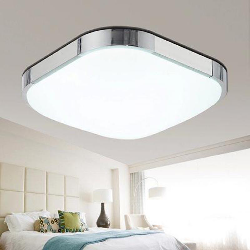 ФОТО Ceiling lights 12W 24W 36W 48W 72W Square Kitchen light 110V/220V240V modern led ceiling lamp for bedroom